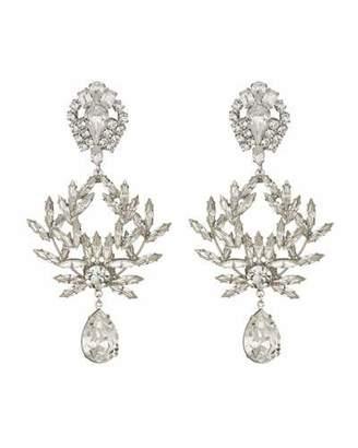 Dannijo Clover Crystal Clip-On Earrings