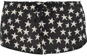 Love Stories Audrey Printed Sateen Pajama Shorts