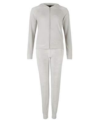 Emporio Armani Velour Hooded Lounge Suit