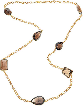 Forever Creations USA Inc. Forever Creations 18K Yellow Gold Over Silver 60.00 Ct. Tw. Smoky Quartz Necklace