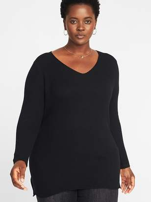 Old Navy Textured V-Neck Plus-Size Tunic Sweater
