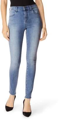 J Brand Maria High Waist Raw Hem Skinny Jeans