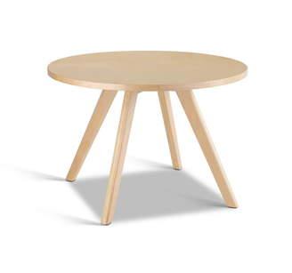 BEIGE Dwellhome Dadone Round Wooden Coffee Table