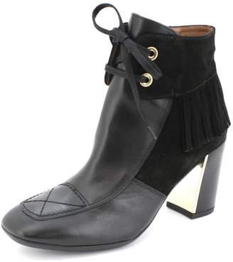 Hispanitas Fringed Black Ankle-Bootie