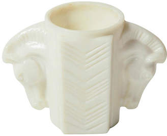 One Kings Lane Vintage 1930s Milk Glass Horse Vase - Maeven