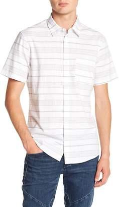 WALLIN & BROS Short Stripe Woven Shirt