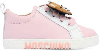 Moschino Teddy Bear Patch Nappa Leather Sneakers