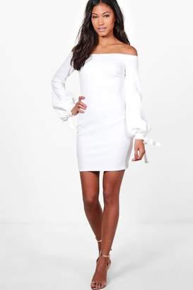 boohoo Off Shoulder with Cuff Bodycon Dress