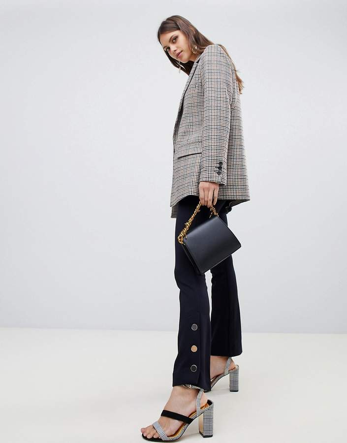 Emme Portray Trousers with Button Detailing