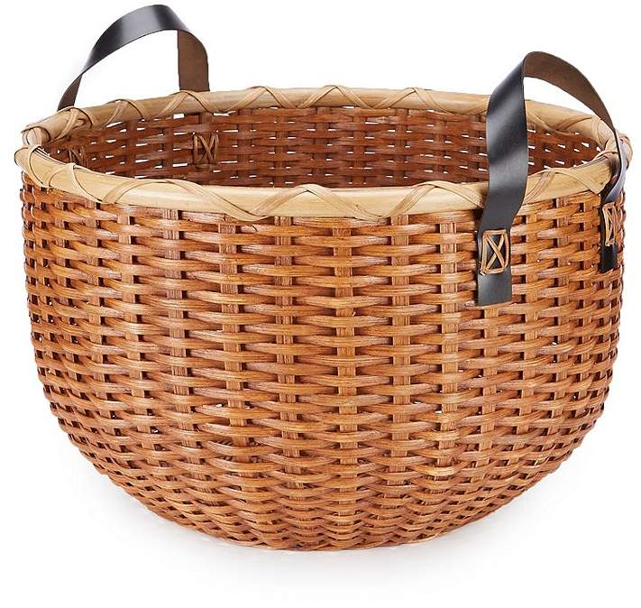 Southern Living Festive Fall Collection Flat Core Handled Basket