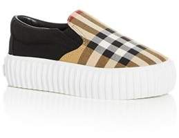 Burberry Unisex Erwin Vintage Check Slip-On Platform Sneakers - Walker, Toddler