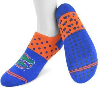NCAA Women's Mojo Florida Gators Speckled No-Show Grip Socks