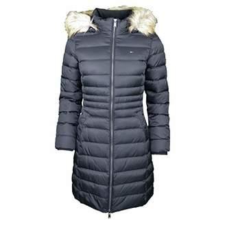 Tommy Hilfiger Tommy Jeans Women's Winter Coat Down Fill Parka Jacket with Faux Fur Hood Black