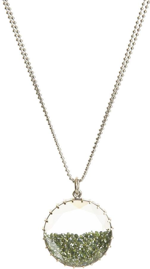 Renee Lewis Green Diamond Shake Necklace