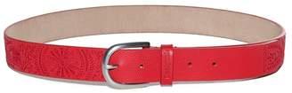 Desigual Red Embroidered Belt