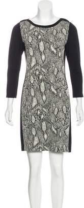 Rebecca Taylor Printed Long Sleeve Mini Dress