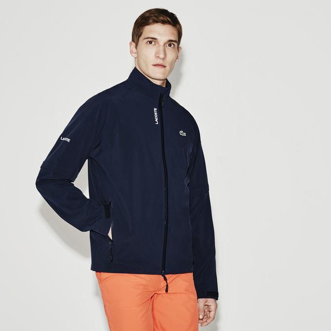 LacosteMen's Sport Zippered Technical Golf Rain Jacket