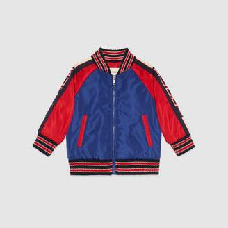 Gucci Baby bomber jacket with stripe