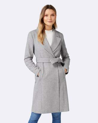 Forever New Eden Herringbone Wrap Coat