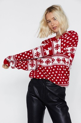 Nasty Gal Save the Children Jingle Bell Rock Holiday Sweater