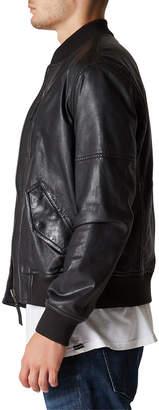 Blank NYC Men's Leather Bomber Jacket