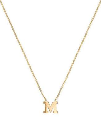 Zoe Lev Jewelry Regin Personalized Initial Pendant Necklace in 14K Yellow Gold
