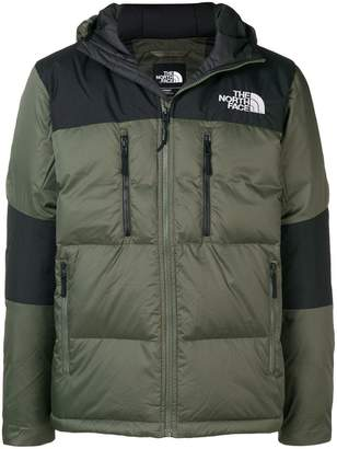 The North Face colour block padded jacket