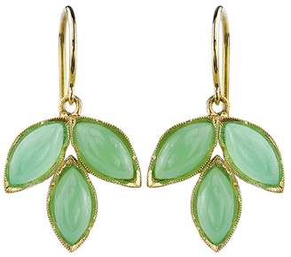 Irene Neuwirth Marquis Chrysoprase Leaf Earrings