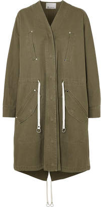 Alexander Wang Cotton-twill Parka - Army green