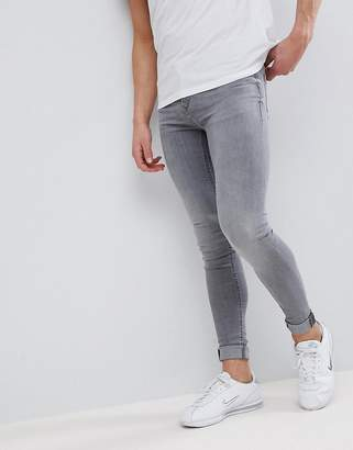 Blend of America Flurry Gray Wash Extreme Skinny Jeans