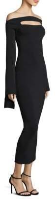 SOLACE London Carmel Peephole Knit Bodycon Dress