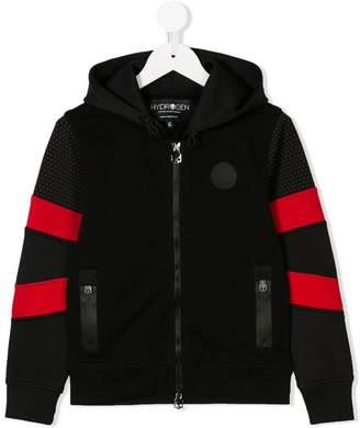 Hydrogen Kids striped sleeve zip hoodie