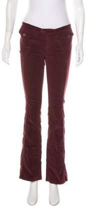 Dolce & Gabbana Velvet Low-Rise Pants