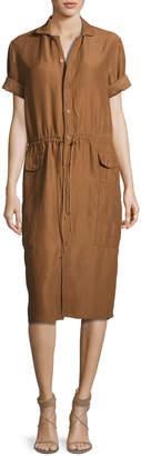 Ralph Lauren Tilden Short-Sleeve Shirtdress Brown