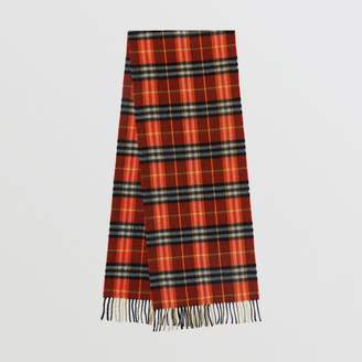 Burberry Check Cashmere Scarf, Red