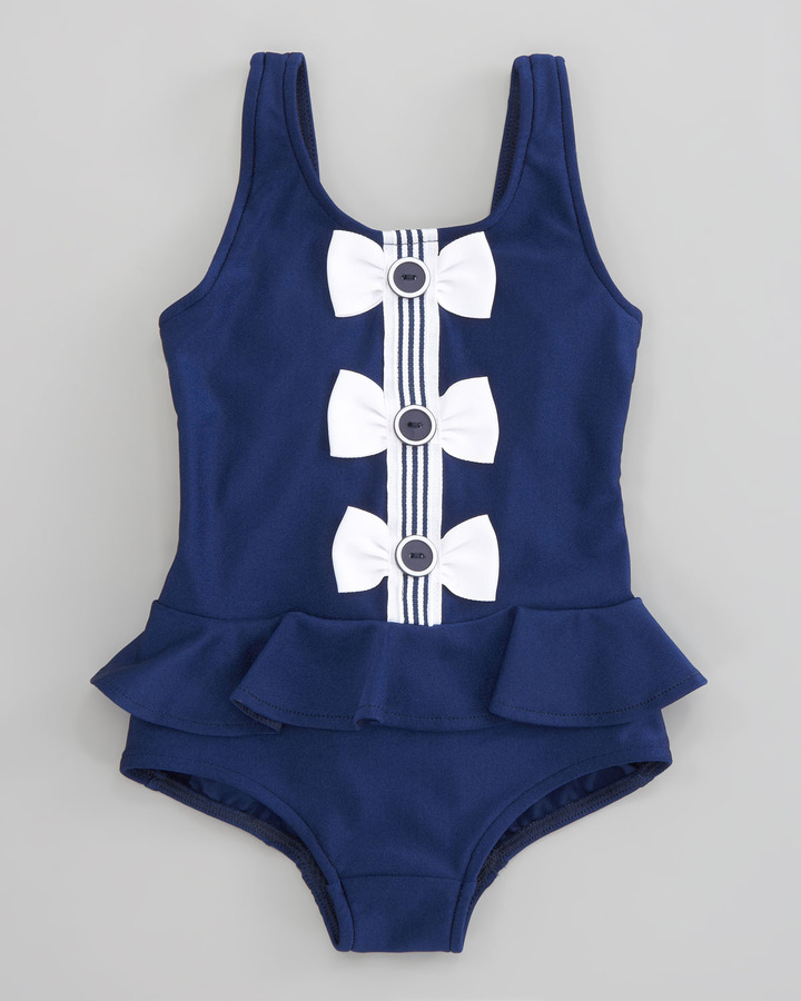 Florence Eiseman Buttons and Bows Swimsuit, Sizes 12-24 Months