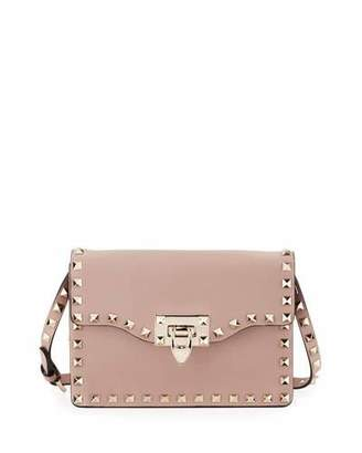 Valentino Small Rockstud Flap Crossbody Bag, Beige $1,295 thestylecure.com