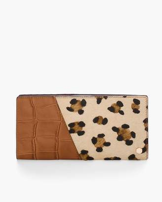 Leopard-Print Haircalf Wallet