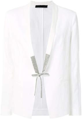 Fabiana Filippi embellished tie blazer