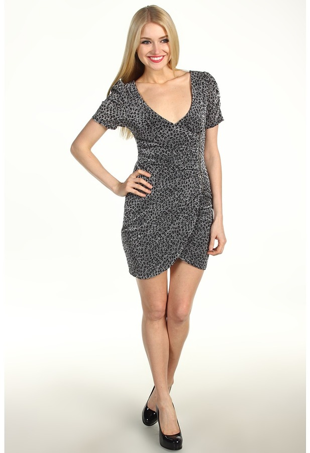 Type Z Beebe Cheetah Dress (Grey) - Apparel