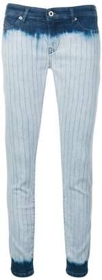 Diesel Black Gold tie-dye striped skinny jeans