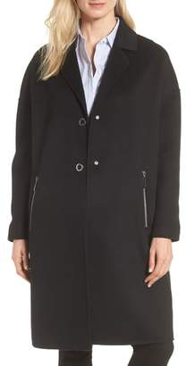 MICHAEL Michael Kors Drop Shoulder Double Face Wool Blend Coat