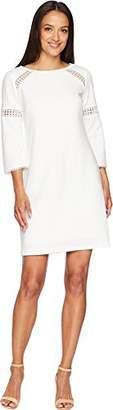 Adrianna Papell Women's Knit Crepe LACE Trimmed Sheath Dress