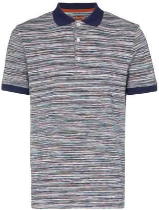 Missoni stripe print cotton polo shirt