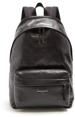 Balenciaga Arena Leather Backpack - Mens - Black