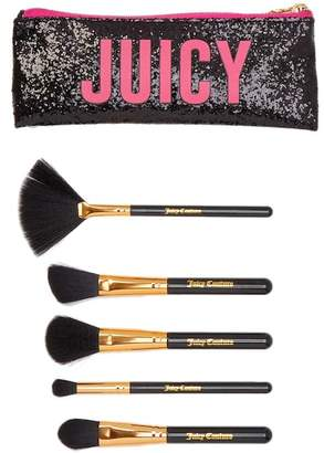 Juicy Couture Juicy 6-Piece Brush Set with Cosmetic Bag