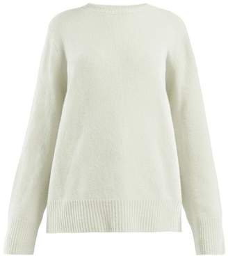 The Row Sibel Wool Blend Sweater - Womens - Light Green