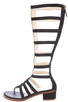 Chanel Suede Gladiator Sandals