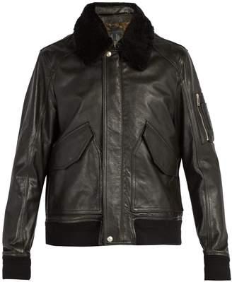 Belstaff Arne shearling collar leather jacket