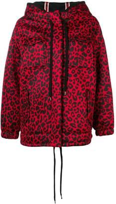No.21 leopard-print neoprene parka